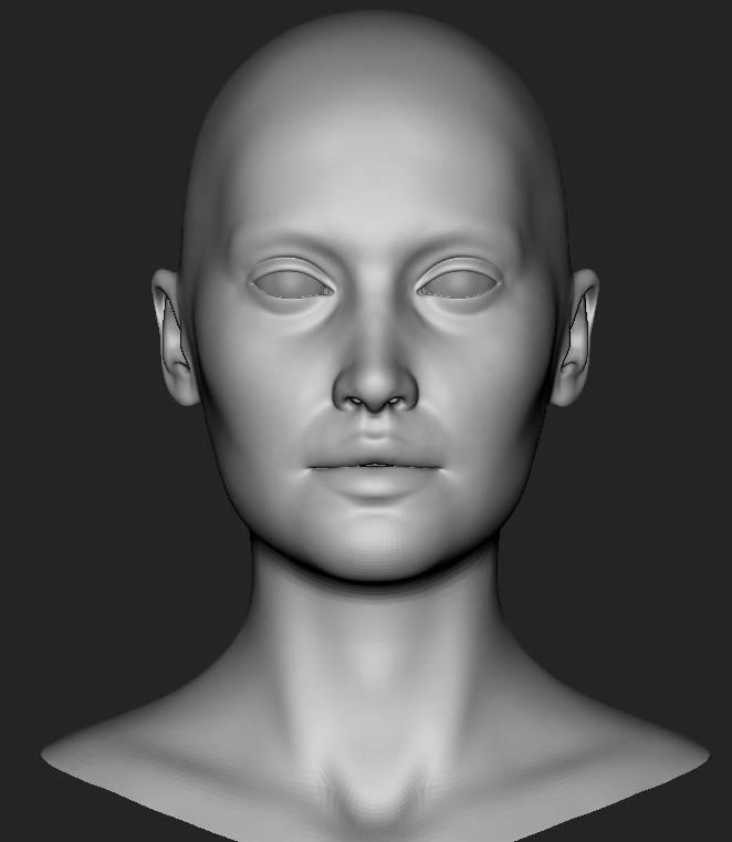 人物角色数字头像  (建模、雕刻、纹理) 创作图文工作流程 (2) 皮肤纹理 细节处理 DIGITAL FACE 全面解析教程 - R站 学习使我快乐! - 2