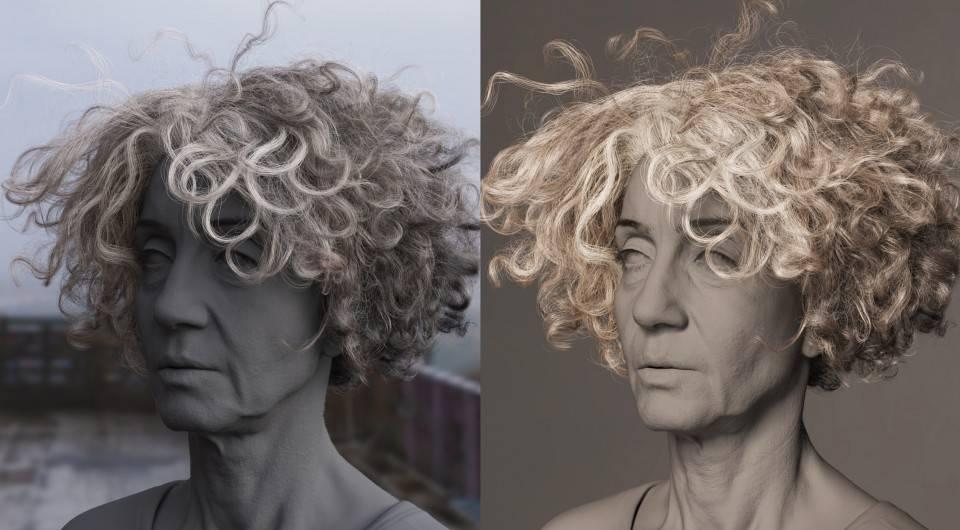 人物角色数字头像 (建模、雕刻、纹理) 创作图文工作流程 (7) DIGITAL FACE 眉毛、睫毛、毛发等超强高级解析教程 - R站|学习使我快乐! - 20