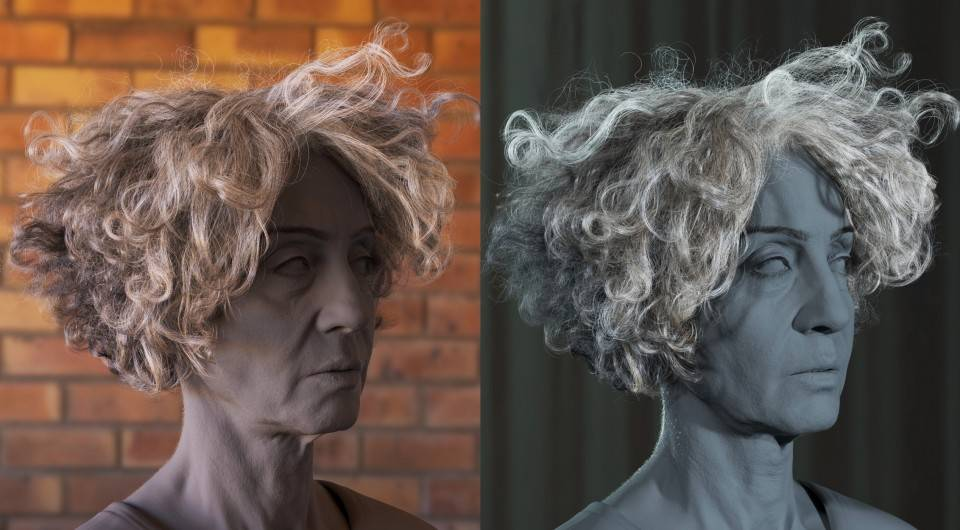人物角色数字头像 (建模、雕刻、纹理) 创作图文工作流程 (7) DIGITAL FACE 眉毛、睫毛、毛发等超强高级解析教程 - R站|学习使我快乐! - 21