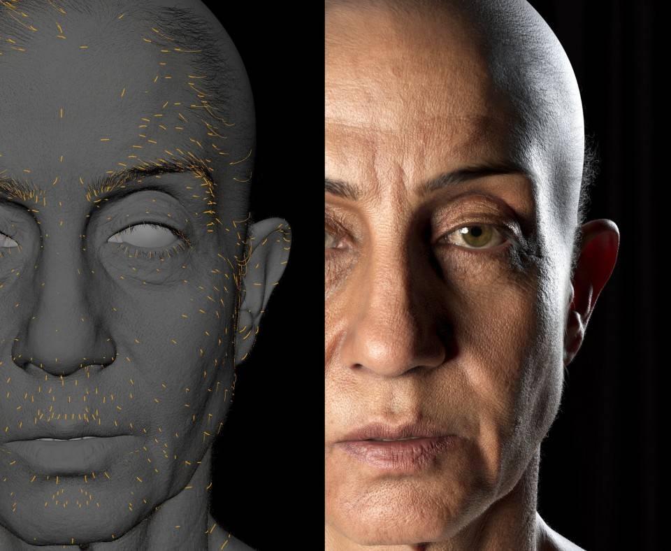人物角色数字头像 (建模、雕刻、纹理) 创作图文工作流程 (7) DIGITAL FACE 眉毛、睫毛、毛发等超强高级解析教程 - R站|学习使我快乐! - 4