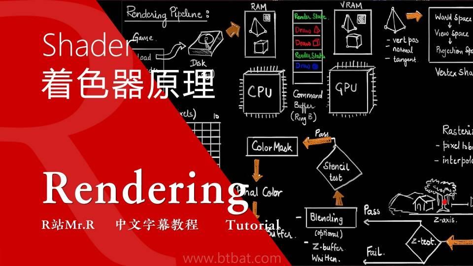 【VIP专享】中文字幕 重磅通用核心知识《深入理解着色器原理》渲染器流水线 图形工程核心原理概念 (20集/180分钟)  Shaders Development 视频教程 - R站|学习使我快乐! - 1
