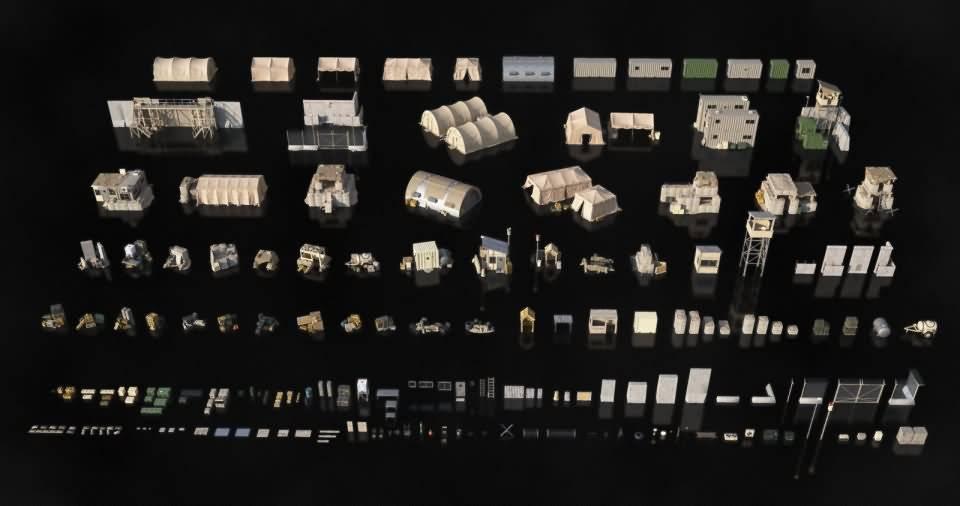 3D模型:军事前哨兵营避难所吃鸡场景包 KitBash3D Military Outpost (OBJ/FBX格式) - R站|学习使我快乐! - 3