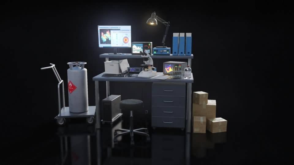 3D模型:高科技神秘地下科学实验室3D模型包 Kitbash 3D - Secret Laboratory (FBX/MTL/OBJ格式) 免费下载 - R站 学习使我快乐! - 5