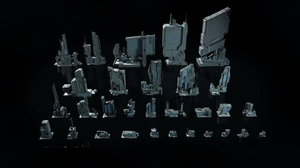 3D模型:恢弘的未来高科技工业帝国城市 Kitbash3D -Sci-Fi Industrial (MAX/OBJ/FBX格式) 免费下载 - R站|学习使我快乐! - 4