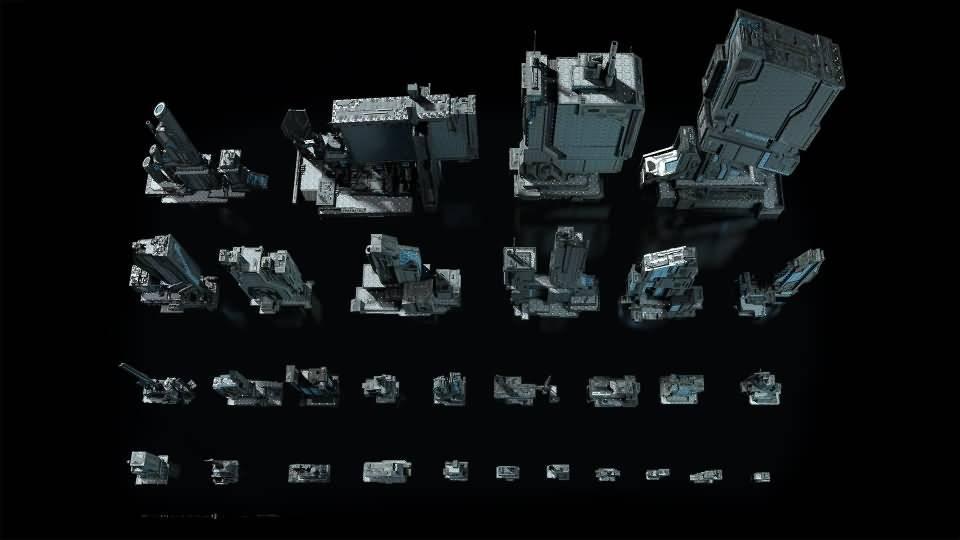 3D模型:恢弘的未来高科技工业帝国城市 Kitbash3D -Sci-Fi Industrial (MAX/OBJ/FBX格式) 免费下载 - R站|学习使我快乐! - 3
