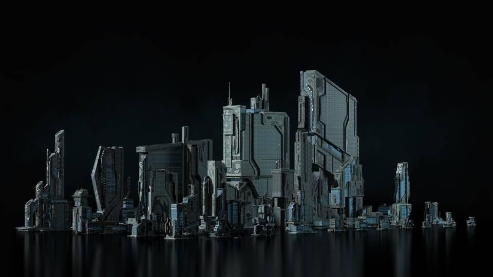 3D模型:恢弘的未来高科技工业帝国城市 Kitbash3D -Sci-Fi Industrial (MAX/OBJ/FBX格式) 免费下载 - R站|学习使我快乐! - 2