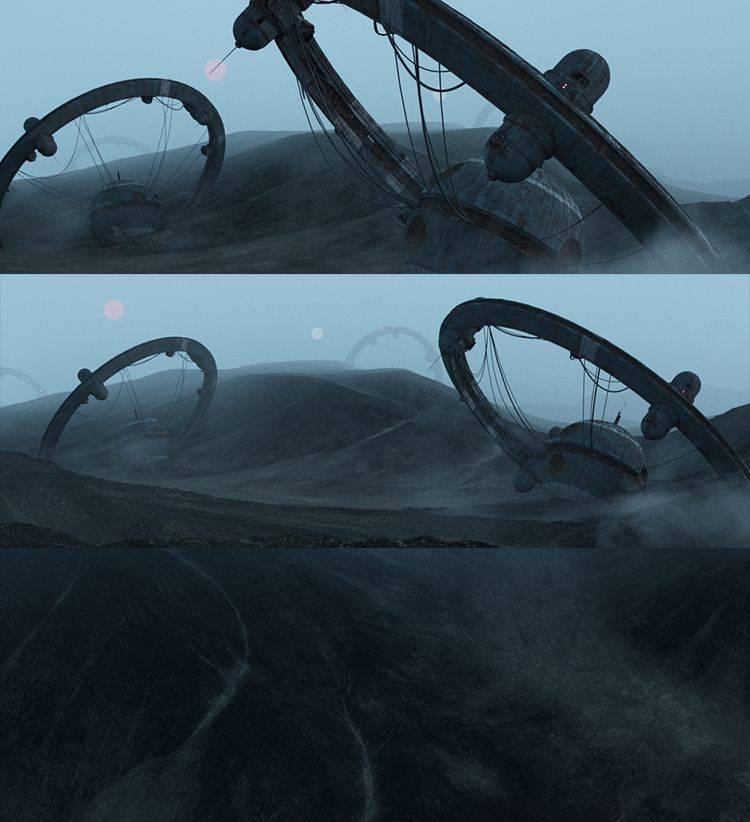 C4D&Octane工程:短片No Signal里面的科幻荒芜之地场景3D模型 Gumroad - No Signal Wasteland Scene (C4D格式) 免费下载