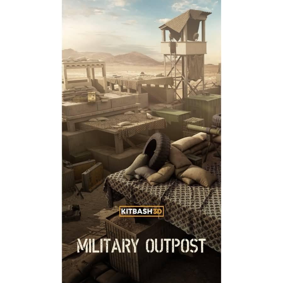 3D模型:军事前哨兵营避难所吃鸡场景包 KitBash3D Military Outpost (OBJ/FBX格式) - R站|学习使我快乐! - 1