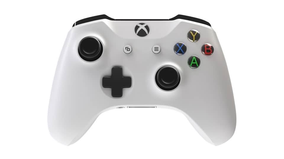 3D模型:Xbox One 游戏手柄控制器 3D模型 (OBJ/C4D格式) 免费下载 - R站|学习使我快乐! - 1