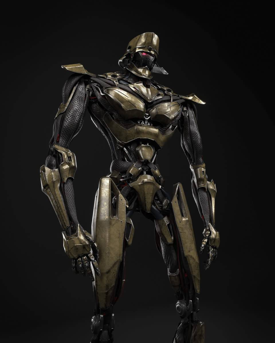 3D模型:炫酷的科幻机器人三维模型设计 Robotic Design (Fbx/Mb格式含材质贴图) - R站 学习使我快乐! - 2