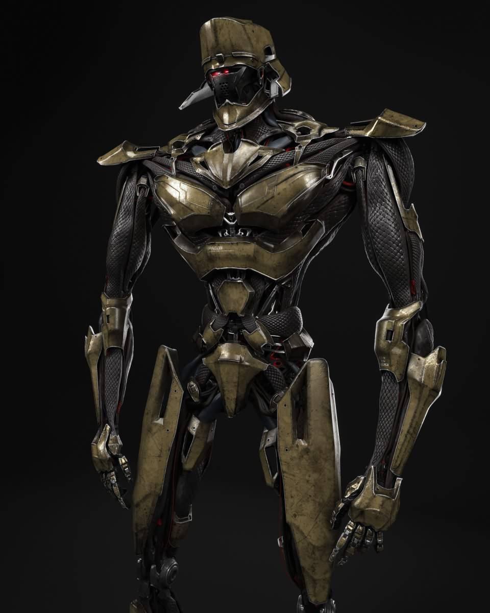 3D模型:炫酷的科幻机器人三维模型设计 Robotic Design (Fbx/Mb格式含材质贴图) - R站 学习使我快乐! - 3
