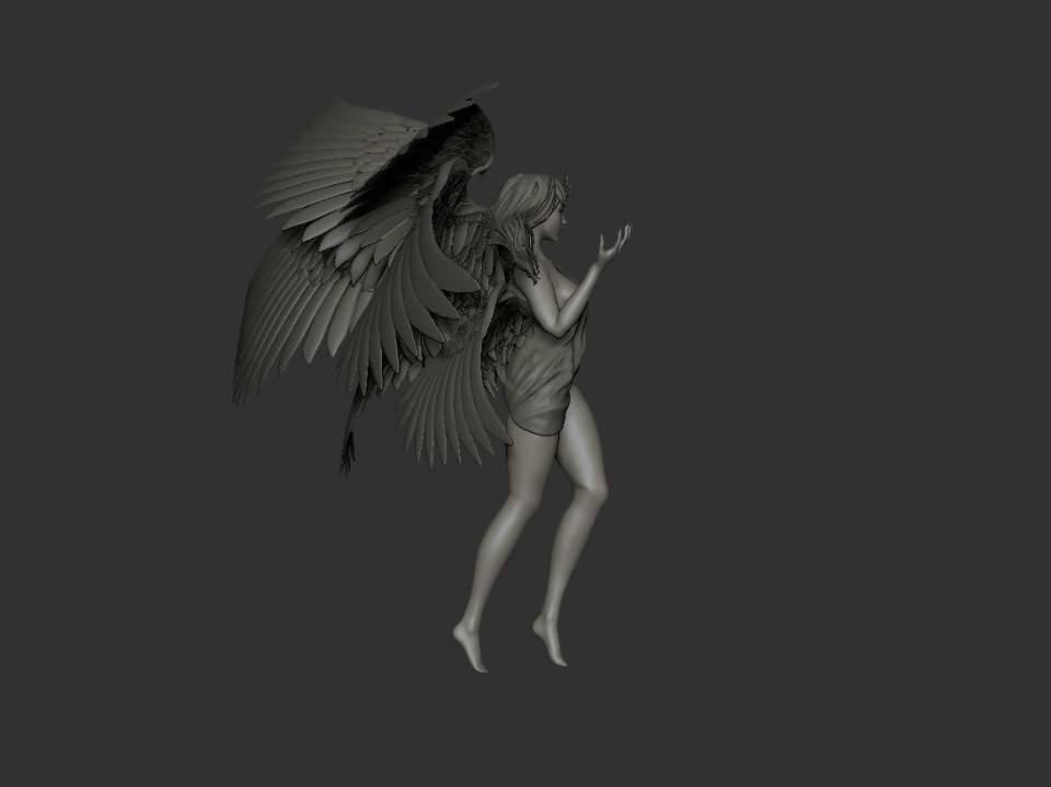 3D模型:超脱的光辉羽翼女神高精三维模型 Transcended (FBX/OBJ/MB/ZTL等格式) 免费下载 - R站 学习使我快乐! - 3