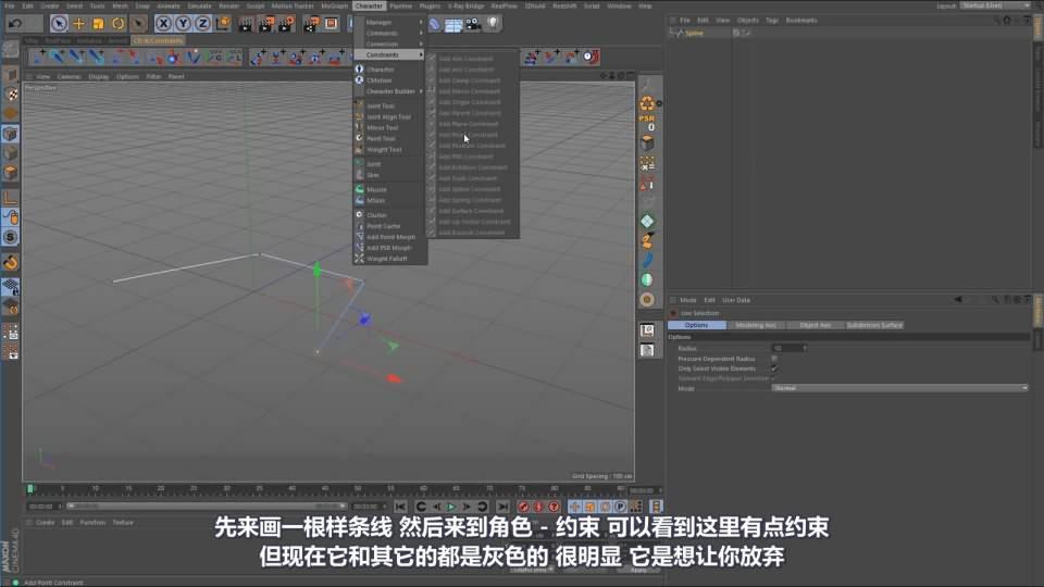 【VIP专享】C4D教程《动态宝典》机械绑定与约束终极指南 Rig & Constraint (7P/01:45:52) 视频教程 - R站|学习使我快乐! - 8