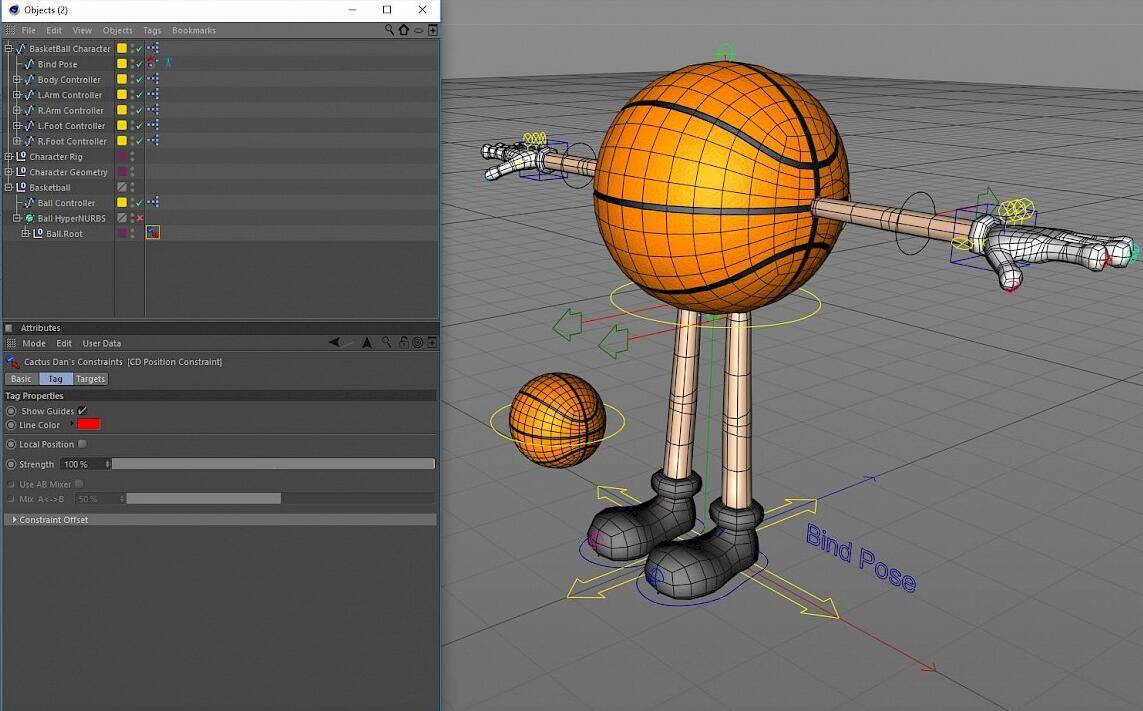 【C4D插件】神佬的动画绑定插件包 Cactus Dan's CD Tools  for C4D R14~S24 免费下载 - R站|学习使我快乐! - 2