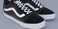 3D模型:万斯经典低帮硫化帆布板鞋模型 Vans Old Skool (Max/Obj格式、含贴图) 免费下载